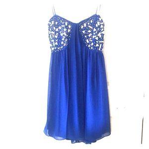 Jeweled Strapless Prom Dress